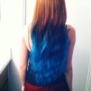 Blue haired Rapunzel.