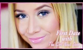 """First Date """"Girl Next Door"""" Makeup Tutorial + Special Guest!"""