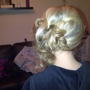 Vintage side up do