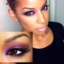 Dramatic Purple Smokey eye