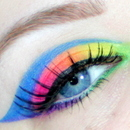 Neon Rainbow Close up