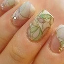 Pastel stained glass nails