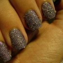 31 Day Nail Challenge: Day 6- Purple- Crystallized (with salt)