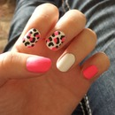 Matte leopard pink and white