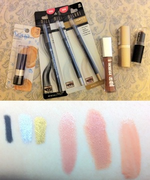 Lipstick and Eyeliner Pencil Swatches