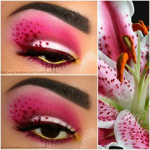 I was requested to do a look inspired by lilies (: