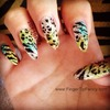 Multi Animal Print Nails