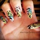 Multi Animal Print Nails