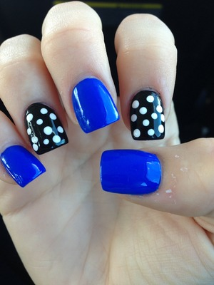 My first attempt at polka dots