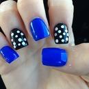 Blue And Polka Dot Nails