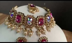 Pink and Green Colour Additions to the Ariaah Necklace Set