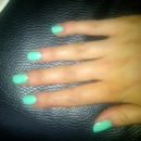 Bright Green Nails