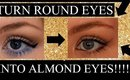 How to: MAKE ROUND EYES LOOK MORE  ALMOND SHAPE {makeup tutorial}