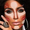 kim kardashian contouring and highlight