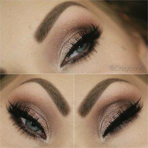 Using Anastasia Beverly Hills single eyeshadows - cream, pink champagne, rosette, utopia and sienna