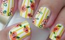 Nail Art - Sunny Flowers - Decoracion de Uñas