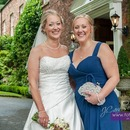 Beautiful bride and sister