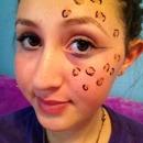 Cheetah print makeup