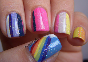 Inspired by My Little Pony :)) http://thepolishwell.blogspot.com/2012/05/nail-ideas-my-little-pony.html