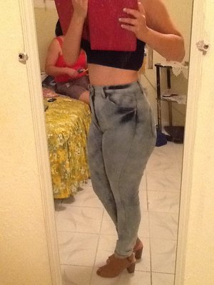 Brand new wanted out jeans  jeans that I bought over the weekend. What you think  you like!?