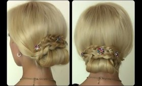 Elegant Evening Updo   Pretty Hairstyle For Long Hair
