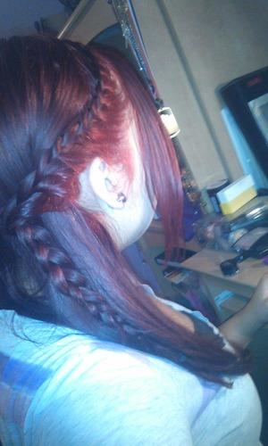 just did a side braid :)
