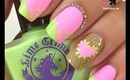 Lime Crime Heart Chevron Nails by The Crafty Ninja