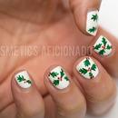 Christmas Holly Nail Art