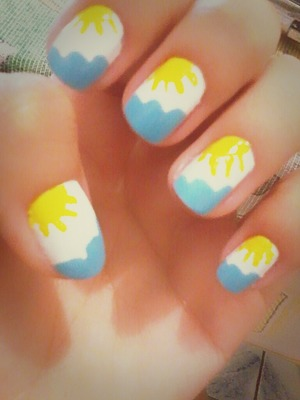 There is nothing better than a sunny day :) Nail art by me
