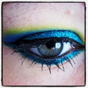 LIT Cosmetics glitter in Peacock, one word amazing!!!