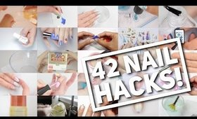 42 NAIL HACKS! | Nail Art Hack Compilation