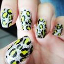 Silver And Neon Cheetah