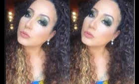 makeup look using dramatic eyelashes