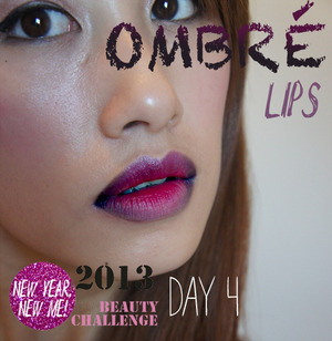 A Purple and Pink Ombre Lip Look!  www.kakabeautyblog.com