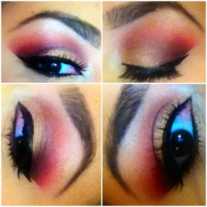 """Warm colored Shadows using BH cosmetics """"Party Girl"""" palette!"""