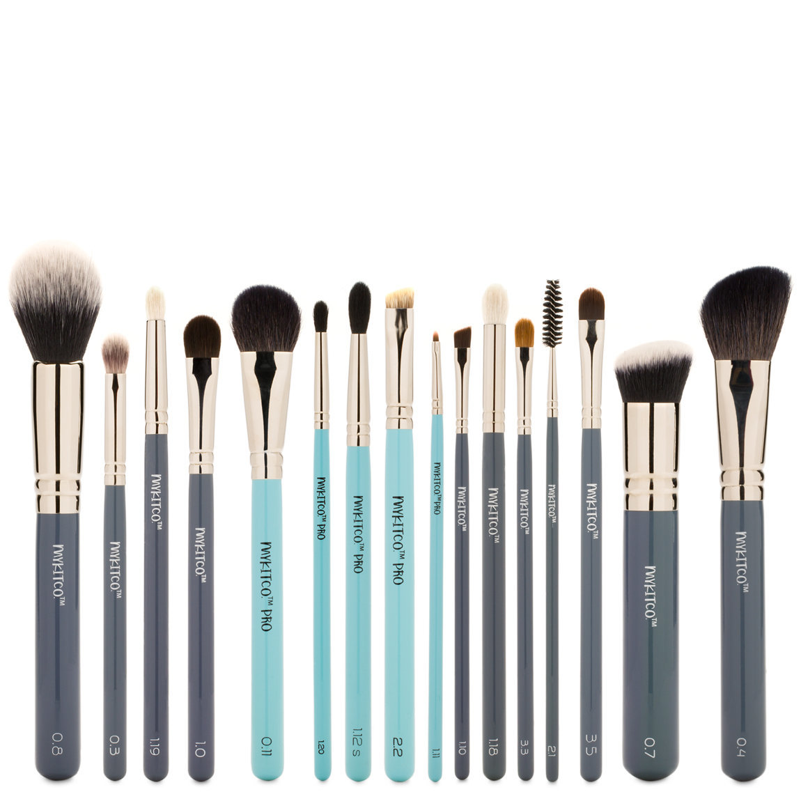 MYKITCO. My Pro Selects Makeup Brush Set product swatch.