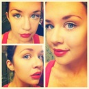 Lucille Ball inspired makeup. (Color)