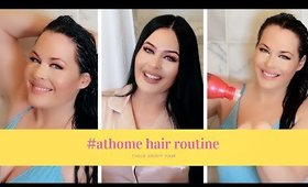 #athome Hair Care Routine for Thick Shiny Hair! How to Color Hair at Home #stayhomewithme #selfcare
