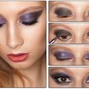 Make up Smokey Eyes Violet