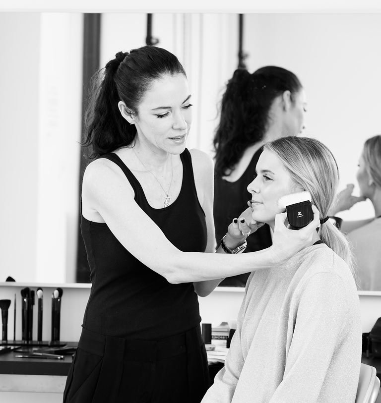 Makeup Artist Rae Morris at work.