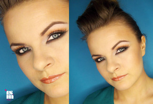 sunny make up with a smudged bottom line