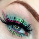 Watermelon Inspired Vibrant Glittery Green & Pink Makeup Tutorial | Fruit Series