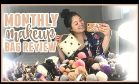 Monthly Makeup Bag Review (Get Ready With Me)