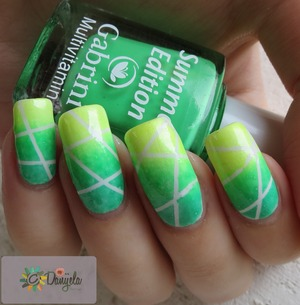 Post on my blog + video tutorial: http://bydanijela.blogspot.com/2013/06/summer-cocktail-neon-nail-design.html