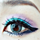 Summer eye look  Blue×Violet