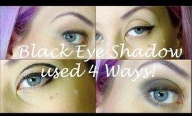 Black Eye Shadow 4 Ways