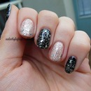 Nude And Black With Silver Glitter