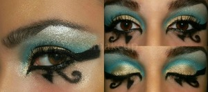 Egyptian/Cleopatra inspired makeup