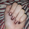 Brown nails with a red tint?