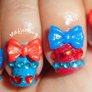 Sweet Bow Lolita Gyaru Nails
